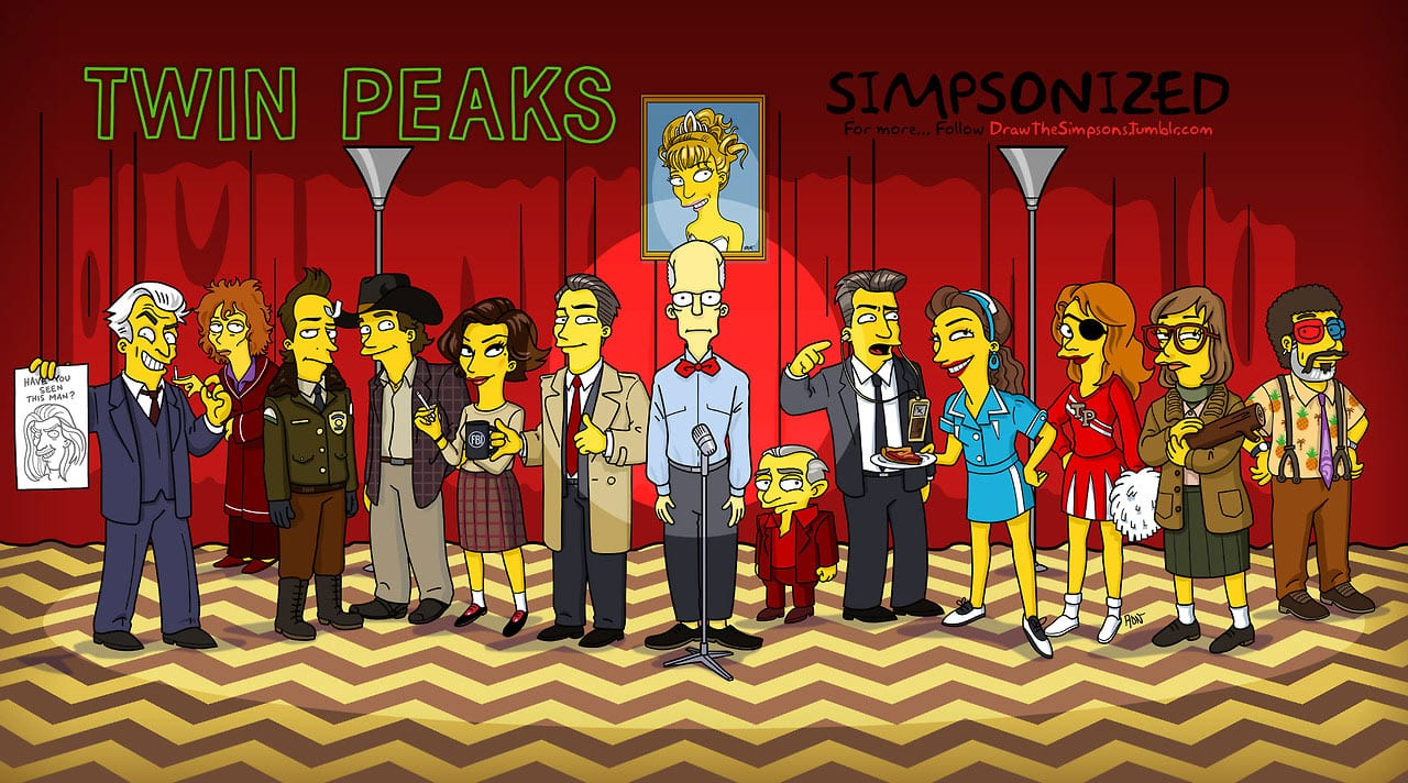 Simpsonized Twin Peaks