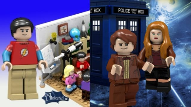 The Big Bang Theory vs. Doctor Who Lego