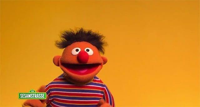 Die Sesamstraße ist happy