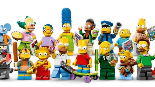 Die komplette Simpsons Cast als Lego Figuren