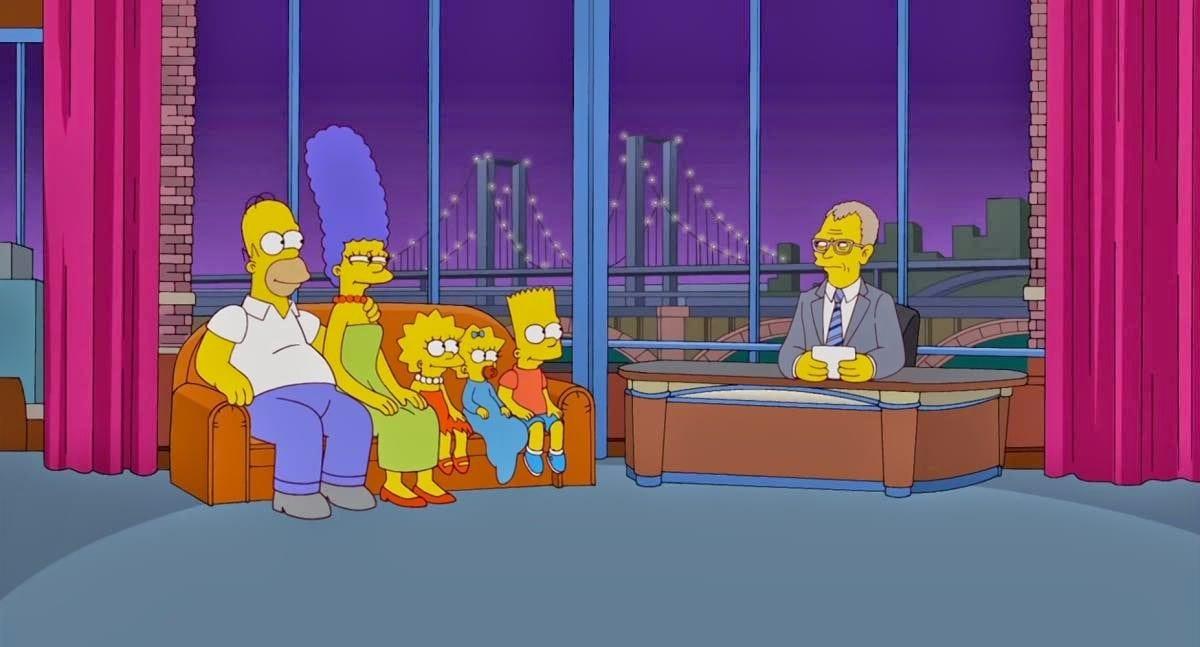 Simpsons: Letterman-Couchgag