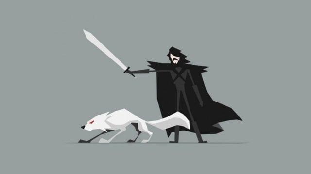 Game of Thrones minimalistisch