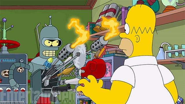 Simpsons-Futurama Crossover