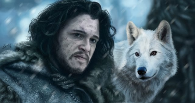 jon_snow_and_ghost_by_lukecfc-d69usmq