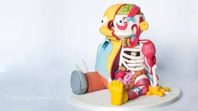 Ralph Wiggum Anatomie-Kuchen