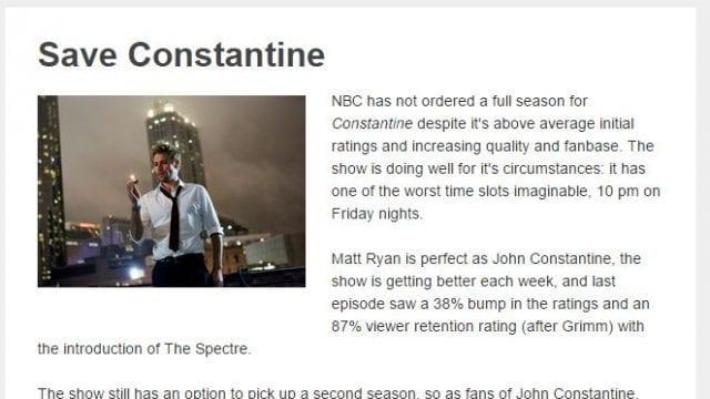 Constantine vor dem Aus?
