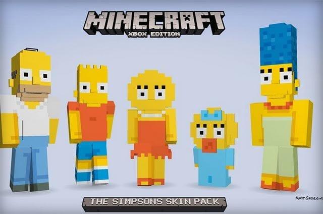 Die Simpsons in Minecraft