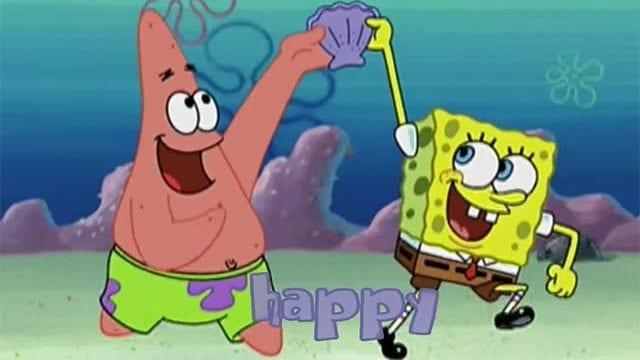 SpongeBob ist Happy