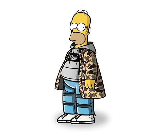 Simpsons in Street Wear
