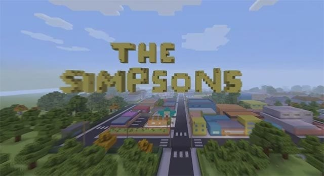 Simpsons Intro in Minecraft nachgebaut