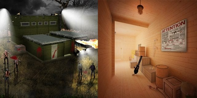 Anti-Zombie-Hütte für den Garten