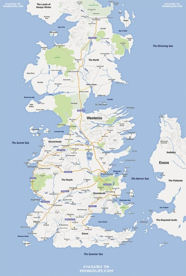 Westeros in Google Maps