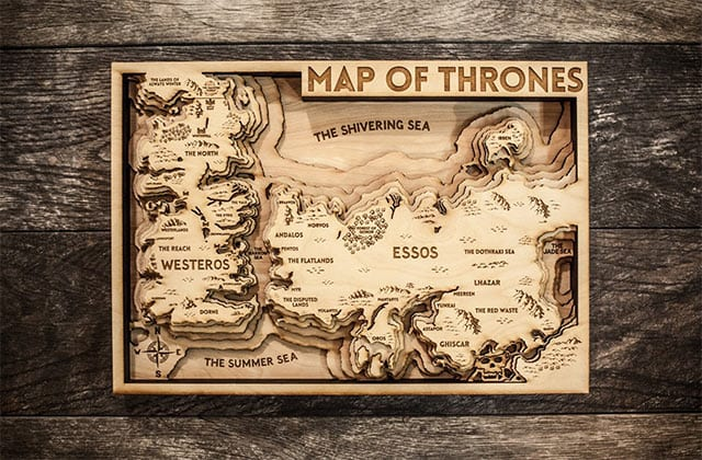 Westeros Karte Interaktiv.Map Of Thrones Handgefertigtes 3d Holz Kunstwerk Seriesly Awesome
