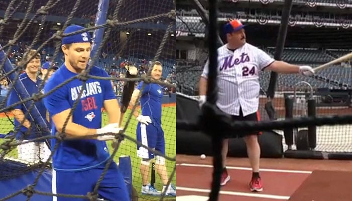 Baseball mit Stephen Amell und Kevin James
