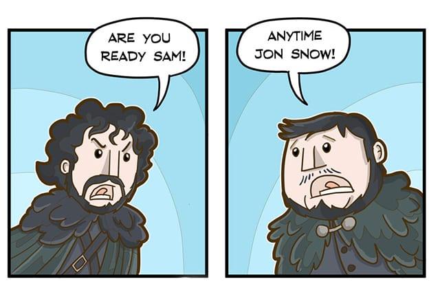 Jon Snow + Sam = Peter Jackson!