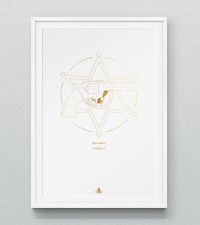 Minimalistische The Walking Dead-Prints