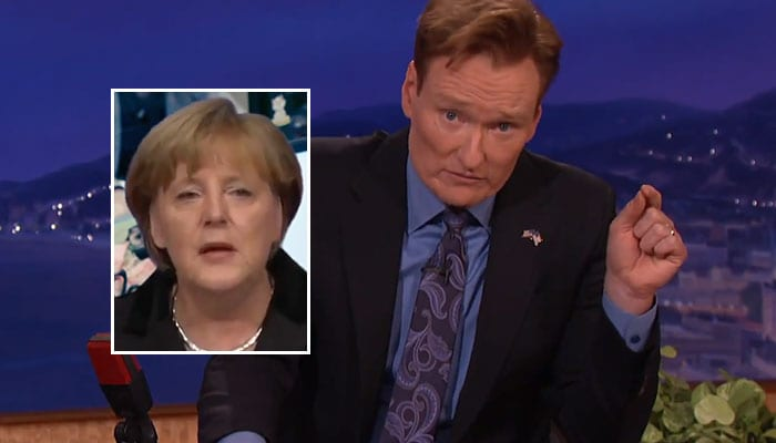 Conan O'Brien über Angela Merkels Name