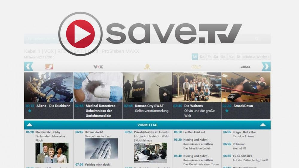Online-Videorecorder Save.TV im sAWE.tv Check