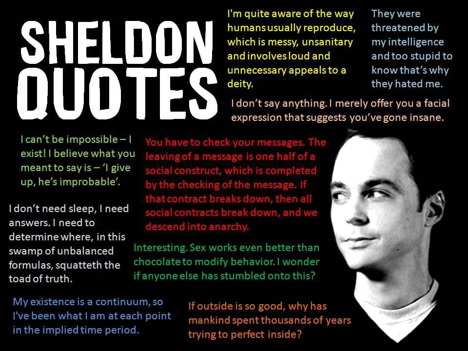 Sheldon Cooper, The Big Bang Theory | Foto: quotesgram.com