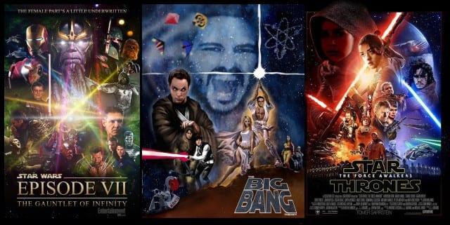 Star Wars Plakatvariationen zu AWESOME Serien