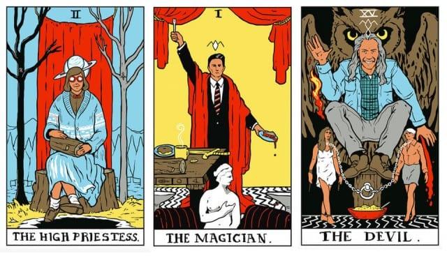 Twin Peaks Tarot Card Art