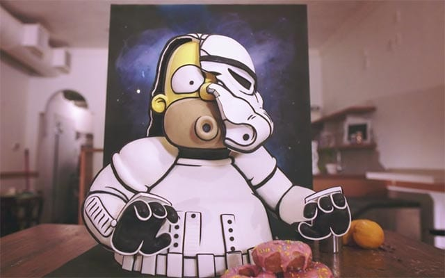 Homer Simpson Stormtrooper Cake