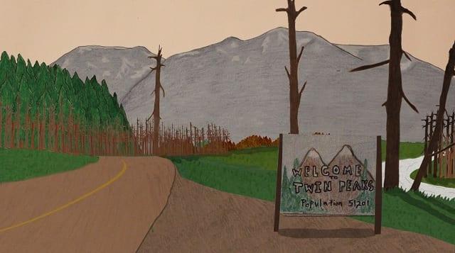 Twin Peaks-Intro aus Papier