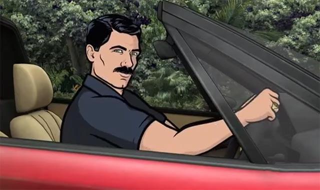 Archer macht einen auf Magnum