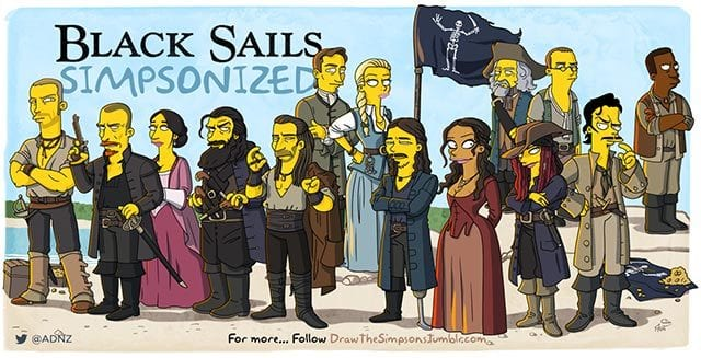 "Simpsonized ""Black Sails"" und ""You're The Worst"""