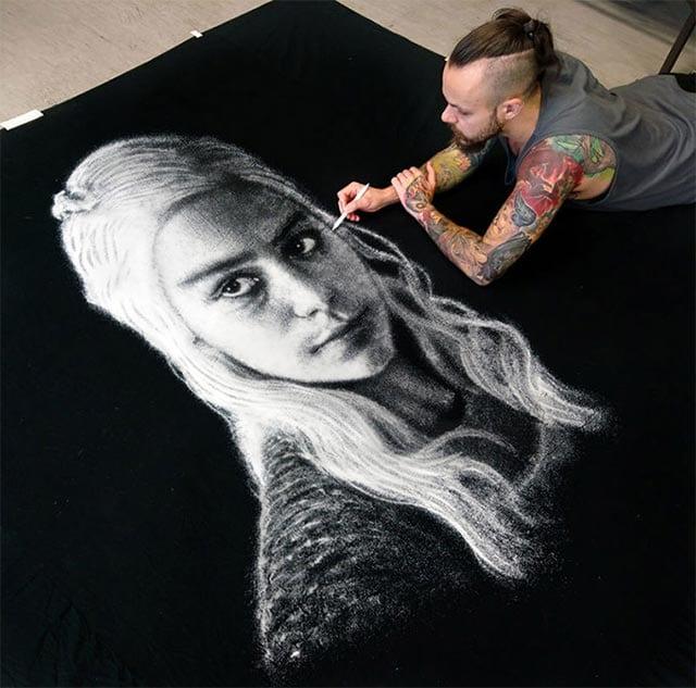 Daenerys-Portrait aus Salz