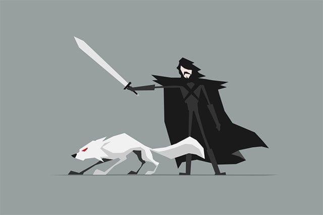 Game of Thrones-Illustrationen von Jerry Liu