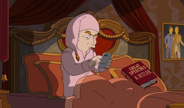 Die Simpsons wählen Clinton