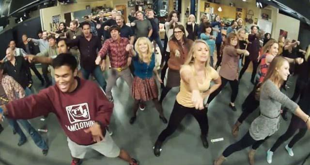 The Big Bang Theory: Flashmob während des Drehs