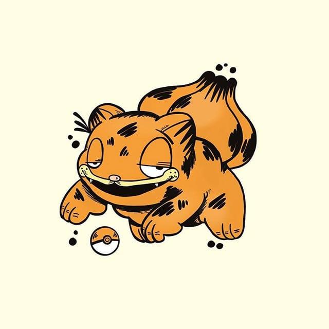 Garfieldisierte Pokémon