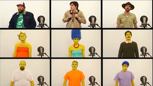 A Capella Cover des Simpsons und des Stranger Things Themes