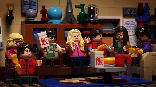 Mit LEGO nachgebautes Big Bang-Intro