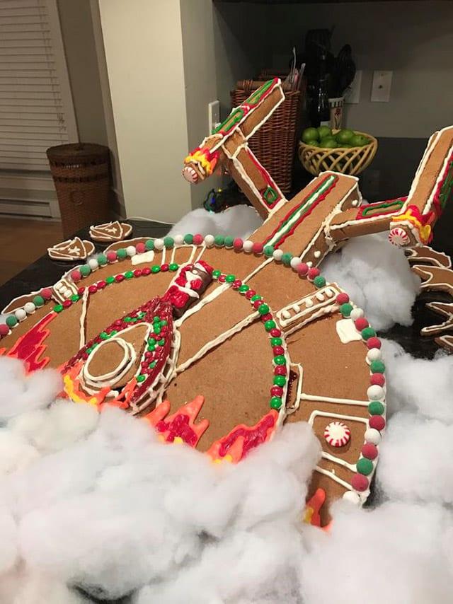 GingerbreadStarTrek02 Holy Shit! Hier hat einer die USS Enterprise als Lebkuchen nachgebacken!