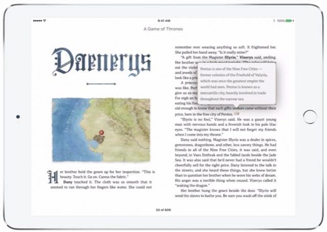 Game of Thrones: Enhanced Version für iBooks