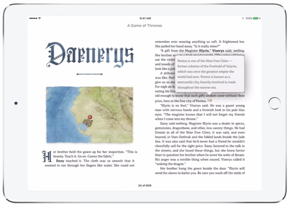 Game of Thrones: Enhanced Version für iBooks