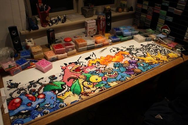 Pokemonprojekt aus über 100.000 Bügelperlen