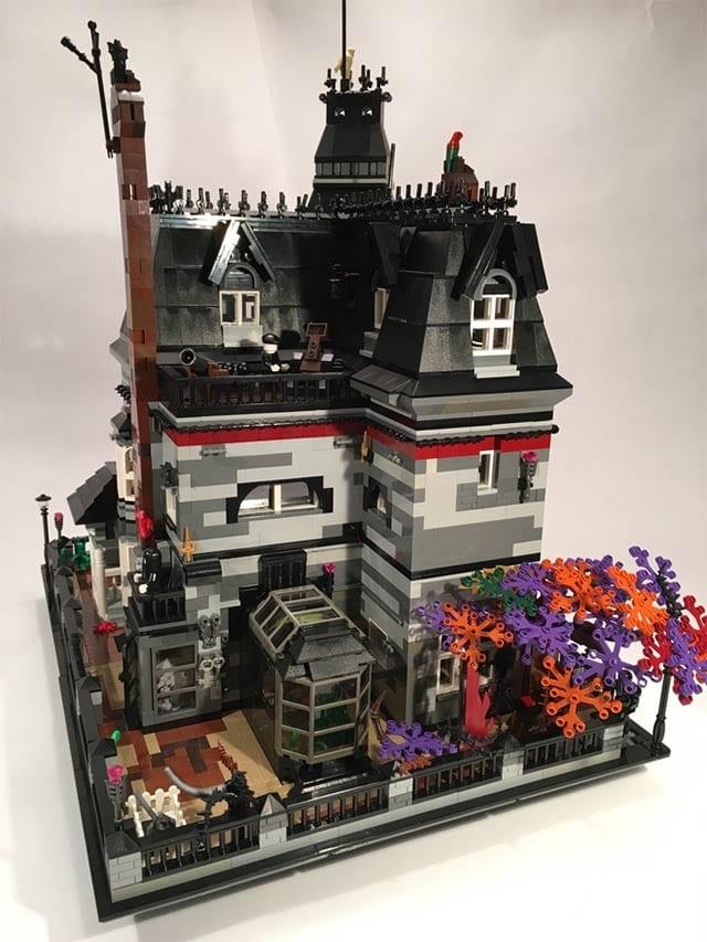 Lego Addams Family Mansion Viele Graue Plastiksteinchen