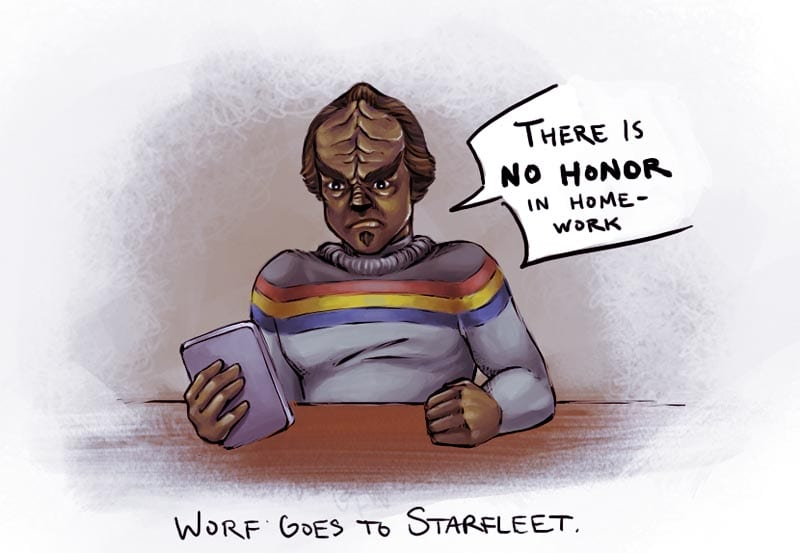 prettyprincessworf sAWEntskalender 2016 – Tür 7: Fan-Art zu Star Trek