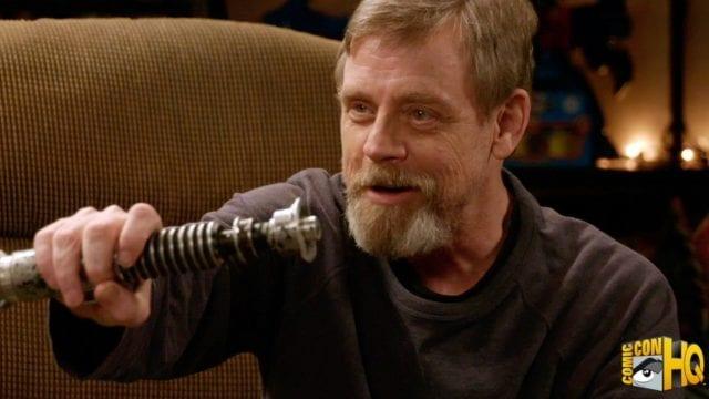 Luke Skywalker trifft sein altes Laserschwert