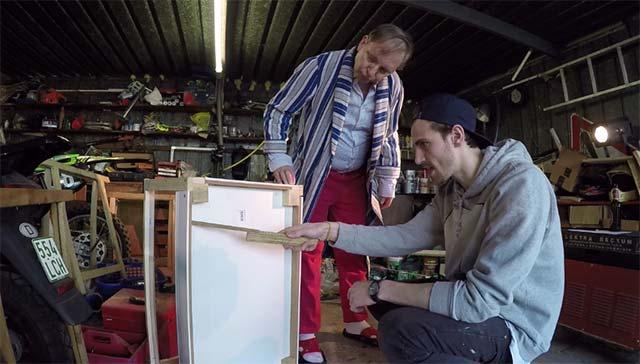 Dittsche und Fynn Kliemann bauen ein Terrarium