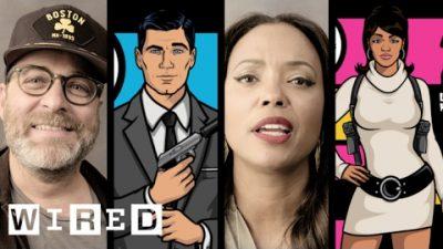 Archer-Cast erdenkt sich Trading Cards für ihre Charaktere