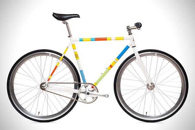 fahrrad im minimalistischen simpsons look limitierte