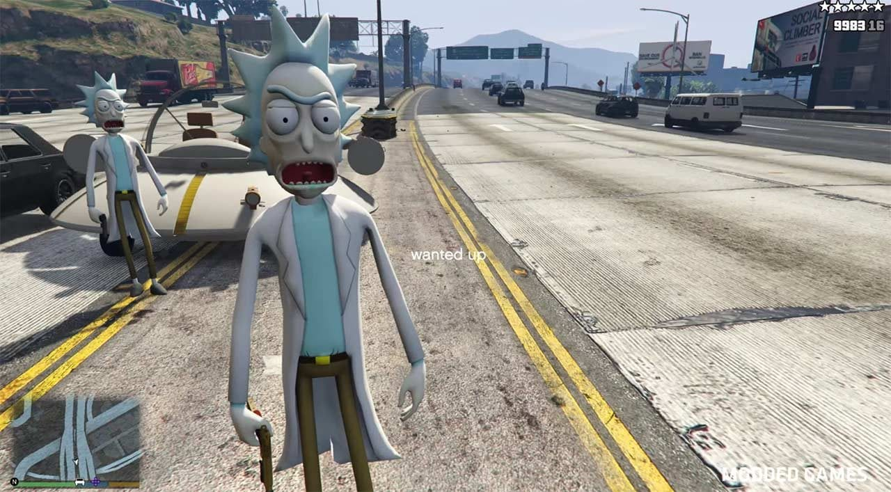 Rick and Morty GTA V-Mod