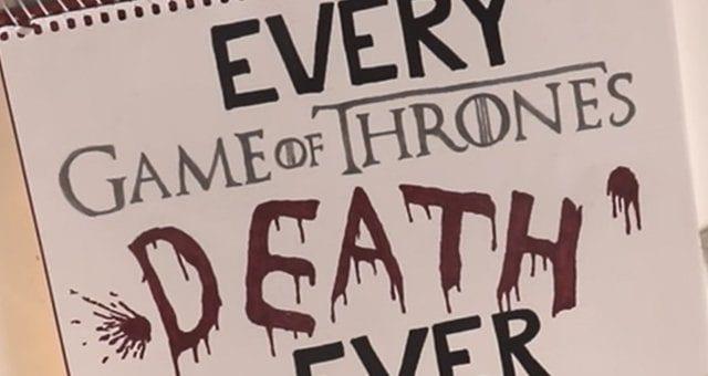 """Videoclip: Jeder Tod in """"Game of Thrones"""" – handgezeichnet"""