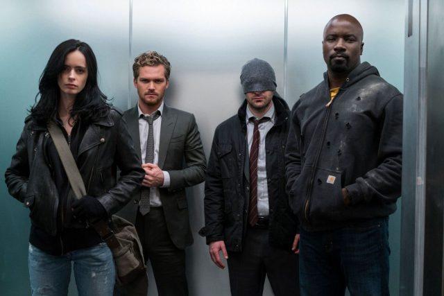 Marvel's The Defenders Jessica Jones Iron Fist Daredevil Luke Cage
