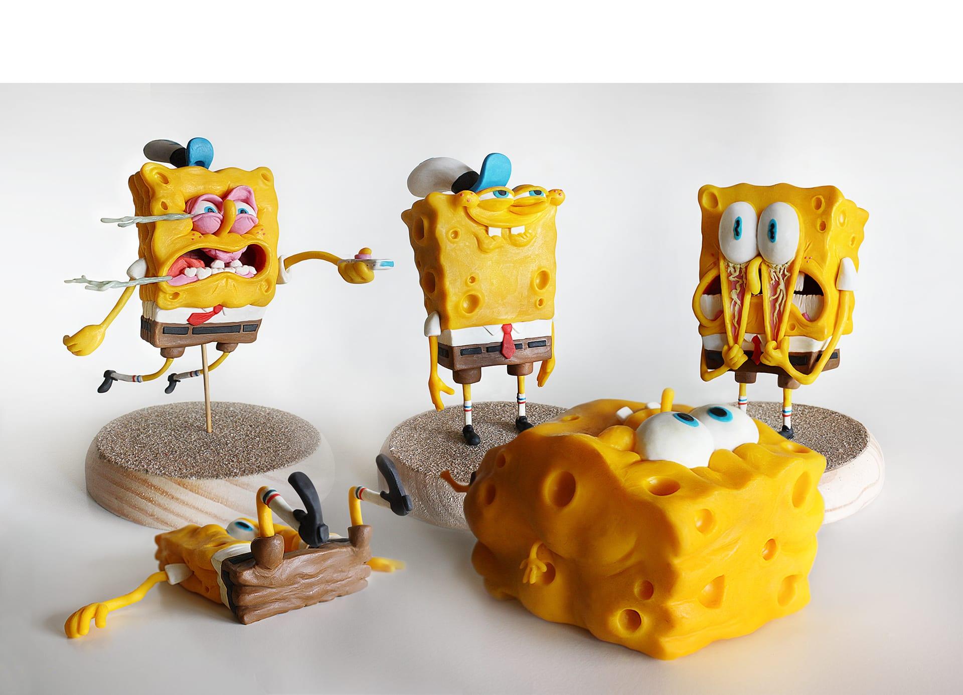 spongebob7 Selbstgemachte SpongeBob Figuren